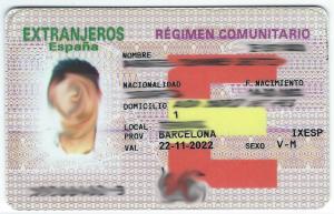 Residence card of family member EU citizen